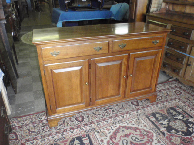 "Contemporary solid cherry server. Chippendale style, John Vogler Group, excellent condition, 52"" wide, 20"" deep, 36"" high $120. FORDON"