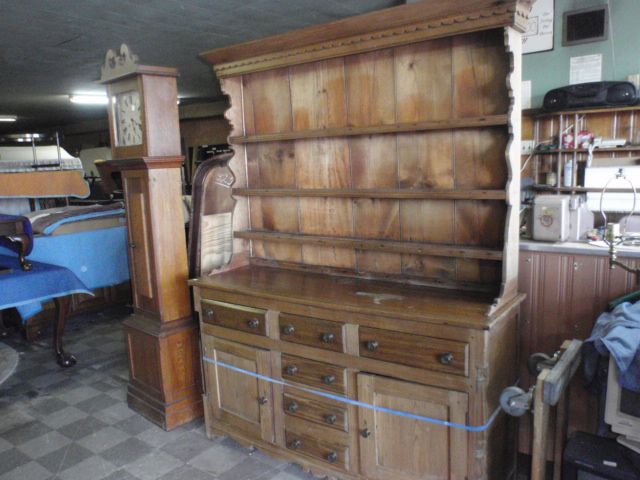 """Antique pine step-back cupboard from Leonard's Antiques, 2 sections, 62"""" wide, 83"""" high, 19"""" deep $750 FM0040"""